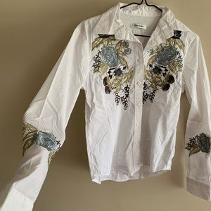 Kaelyn Max Tops - Gorgeous Modern Embroidered Western Button⬇️ Shirt